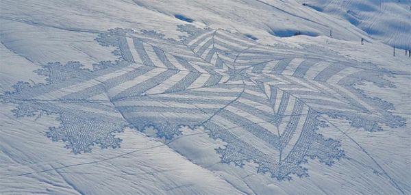 Trampled snow