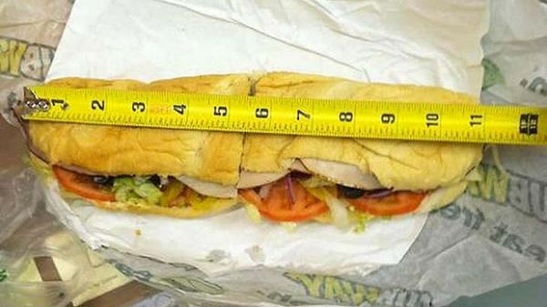 11 inch subway footlong